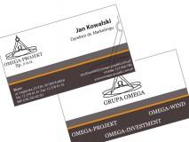 Omega-Projekt - wizytówki